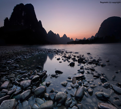 world life china travel light sunset shadow people mountains heritage nature water colors silhouette reflections nikon rocks exposure view earth stones guilin rags quality culture scene pebbles ng karst publication nationalgeographic subtle guangxi xingping d700