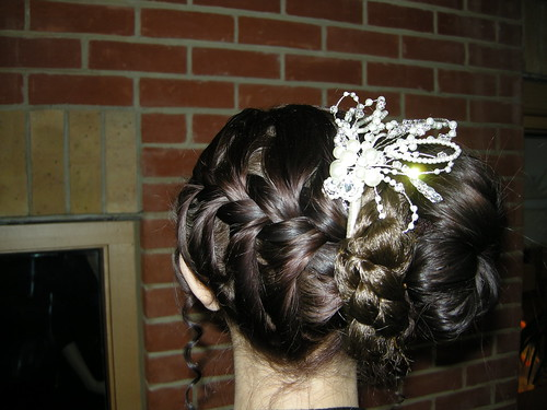A wonderfully detailed bridal hairstyle
