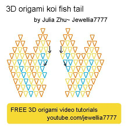 3d origami koifish tail flickr photo sharing for Origami koi fish tutorial