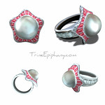 Pearl Ring 3D Model