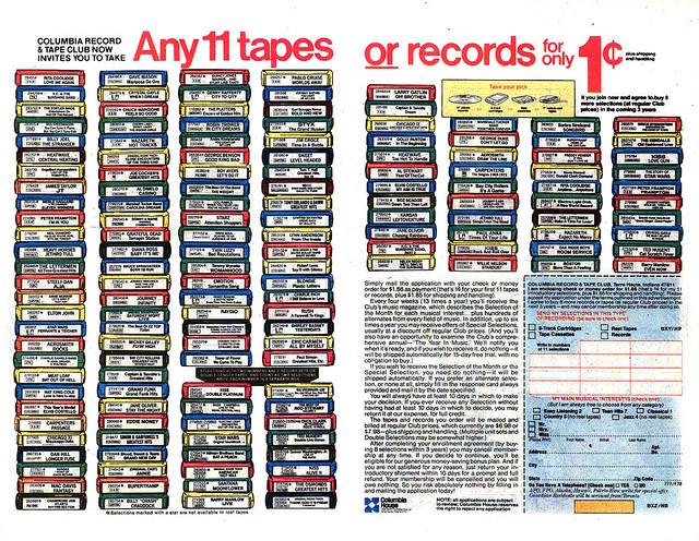 Columbia Record Club Advert, 1970s