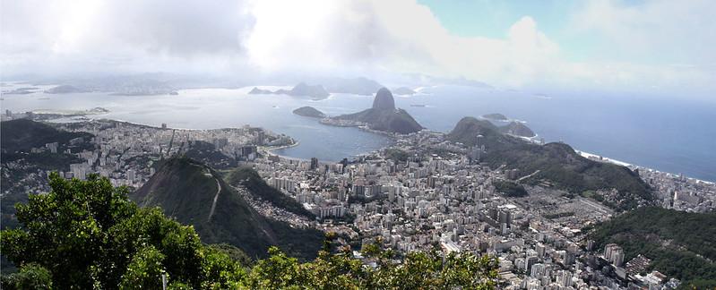 Looking east from Corcovado, Rio de Janeiro