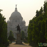 Walking Up to Victoria Monument - Kolkata, India