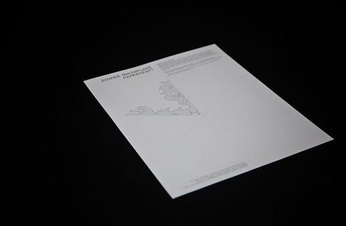 step-1: Printout Zombie Snowflake Papercraft
