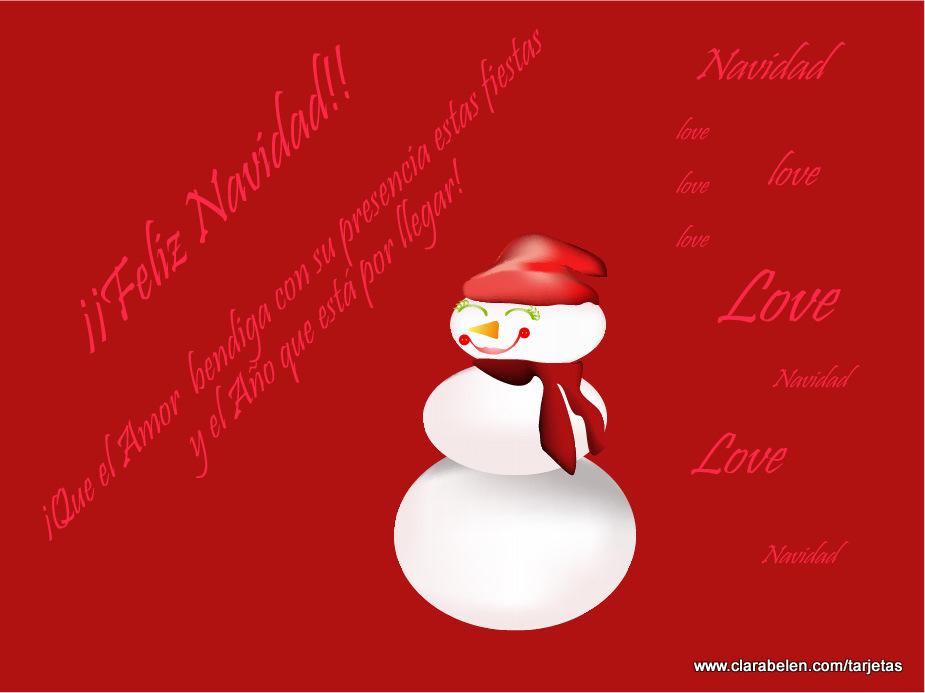 Tarjeta de felicitaci n navidad tarjetas calendarios y - Tarjetas felicitacion navidad ...