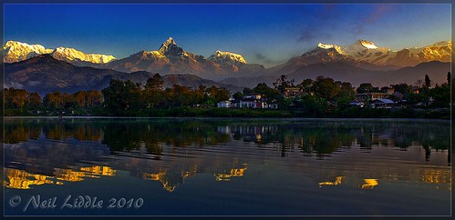 travel trees nepal lake snow color colour slr water wow landscape interestingness amazing interesting asia village great explore annapurna hdr mountian 2010 outstanding damside lr3 npl coloud 550d cs5 canon550d neilliddle rānīpauwa landseavision liddlephotography