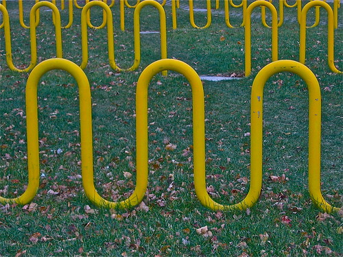 Field Of Bike Racks