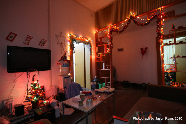 apartment christmas decorations julianne and i got a few l flickr photo sharing. Black Bedroom Furniture Sets. Home Design Ideas