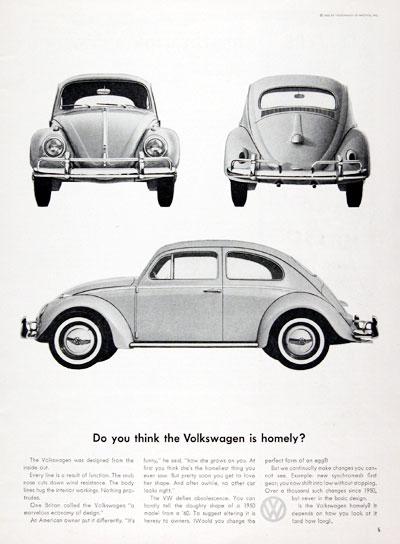 1961 Volkswagen Beetle Ad - USA