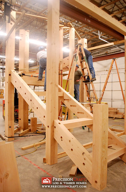 Timber Frame Stairs Stairs Being Fitted Before Shipping