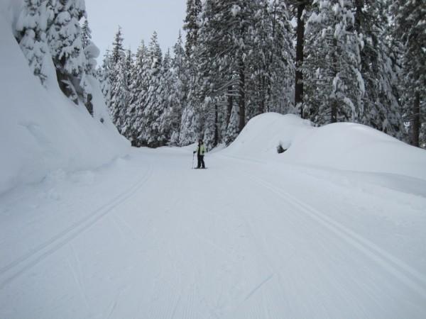 Snowshoeing in Yosemite (me)
