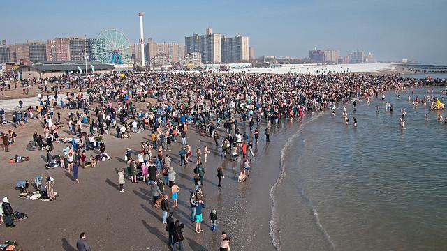 Coney Island Polar Bears Swim, New Year's Day, 2011
