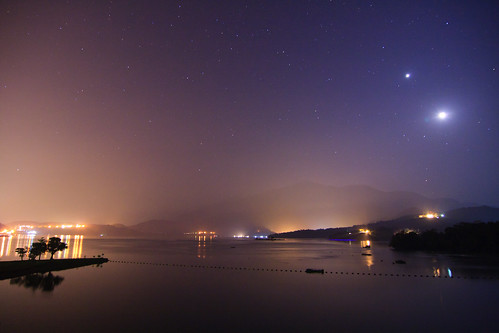 morning lake mountains reflection misty fog night sunrise foggy taiwan 南投 台灣 山 日月潭 sunmoonlake nantou 湖泊 日出 霧 倒影 出水口