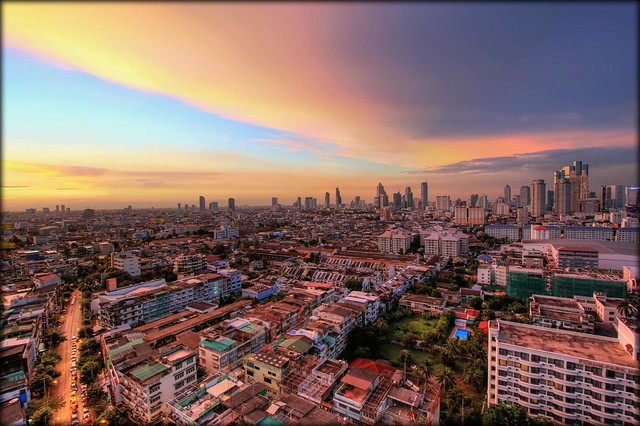 The Glowing Urban Sprawl of Bangkok