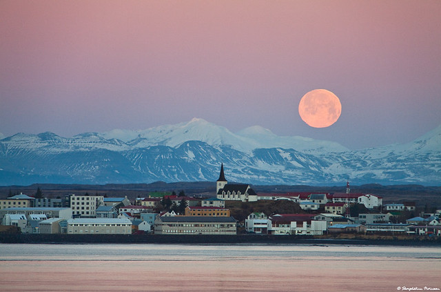 Borgarnes Iceland  City new picture : Borgarnes under a full Moon, west Iceland | Flickr Photo Sharing!