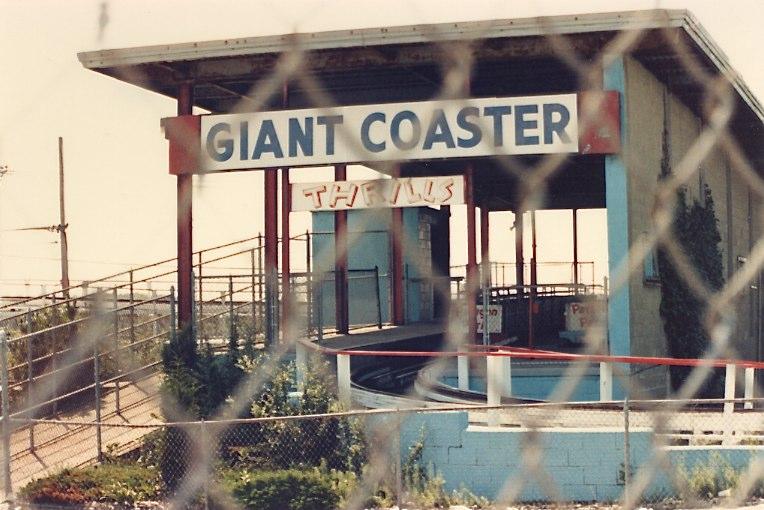 Paragon Park 1985 - Roller Coaster Giant Coaster Sign