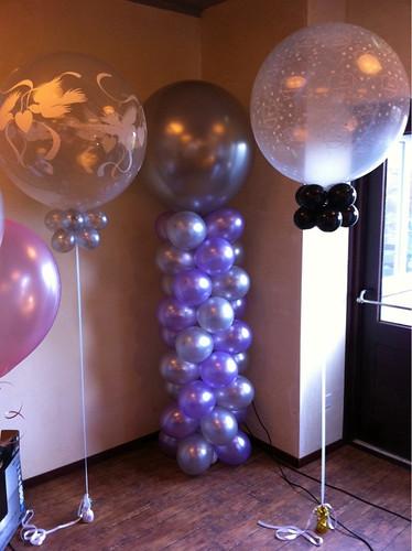Ballonpilaar Breed Rond Hotel Wapen van Marion Oostvoorne