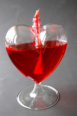 wine glass(0.0), stemware(0.0), produce(0.0), red wine(0.0), food(0.0), negroni(0.0), cosmopolitan(0.0), martini(0.0), petal(0.0), alcoholic beverage(0.0), red(1.0), distilled beverage(1.0), liqueur(1.0), glass(1.0), pink lady(1.0), drink(1.0),