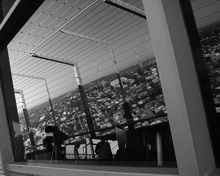 Seattle reflected in the Space Needle, WA, Andrew D. Barron©10/05/09