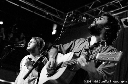 Josiah Johnson (L) and Jonathan Russell of The Head and the Heart @ Neumos, Seattle 1-14-11