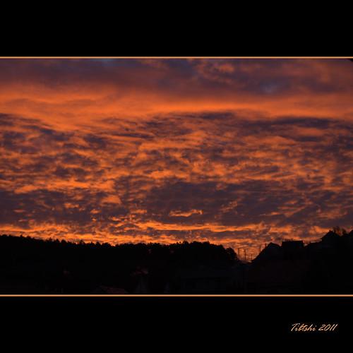 morning winter light sky favorite color colour beautiful silhouette night clouds sunrise dark dawn lights hungary pentax january 1855mm bloody 1855 km 2011 üröm perfectsunsetssunrisesandskys