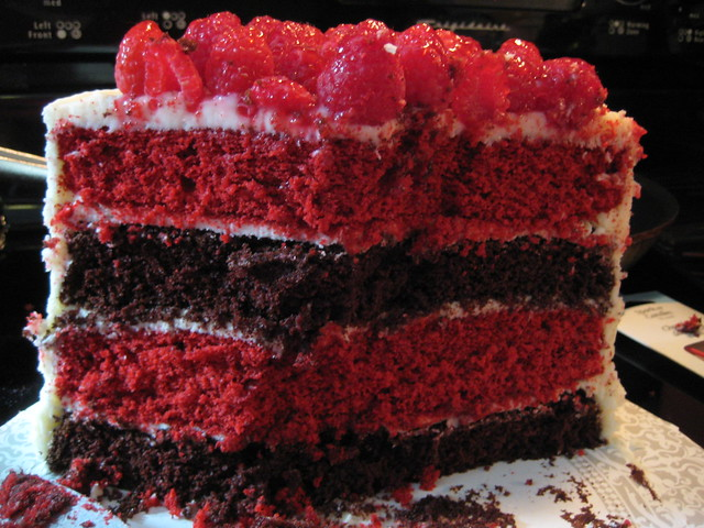 raspberry red velvet and chocolate cake | Flickr - Photo Sharing!