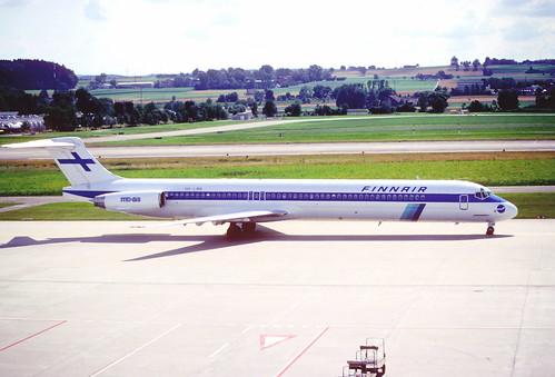 28ar - Finnair MD-83; OH-LMR@ZRH;14.07.1998
