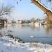 Snow, River Thames, Walton-on-Thames, Surrey by Beautiful England