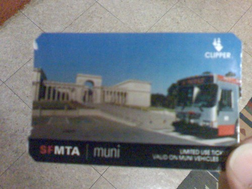 Muni Limited Use Ticket