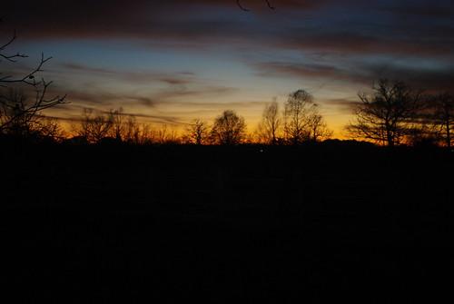 trees sunset silhouette clouds backyard vanburen arkansas sooc