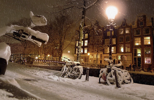Amsterdam ready for a white Christmas