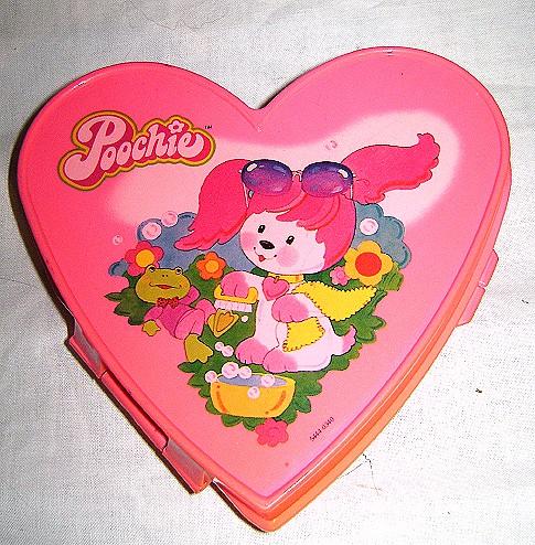 POOCHIE 80's Mattel scatola cuore in plastica Heart Shaped Box