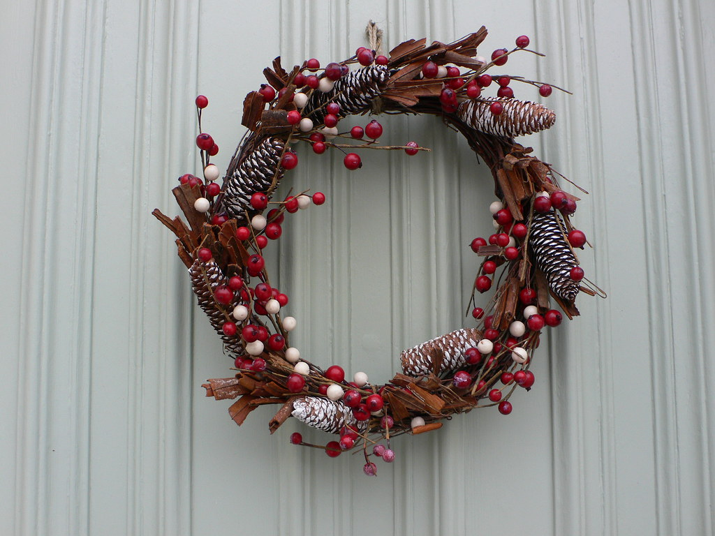 Christmas wreath in Bristol