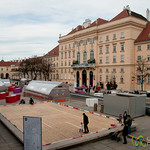 Winter in the MuseumsQuartier - Vienna, Austria