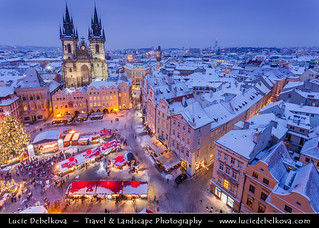 Czech Republic - Prague - Praha - Christmas Markets on the Old Town Square - Staroměstské náměstí