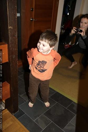 second kid awake for xmas   it's sequoia
