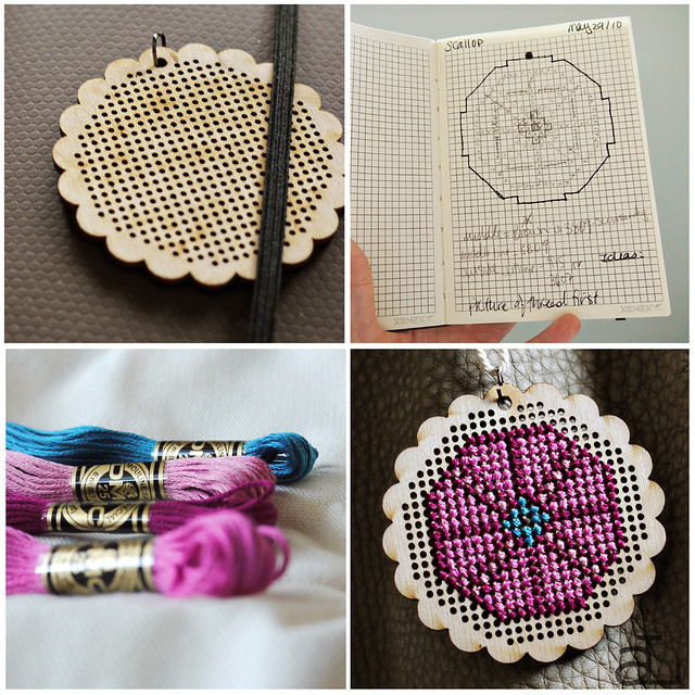 Scallop Cross Stitch Project
