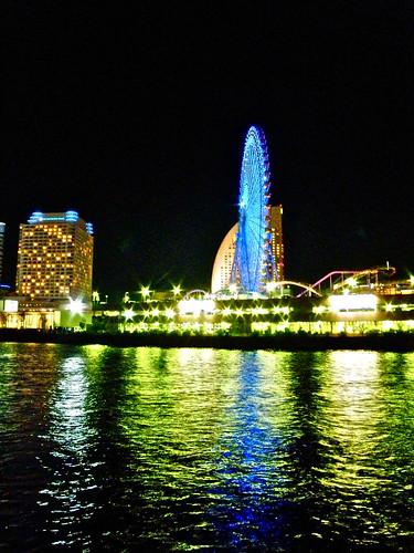 light reflection beautiful night evening view yokohama reflexions 100commentgroup