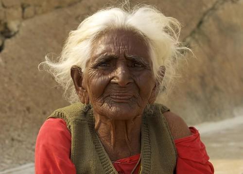 Old woman in Varanasi