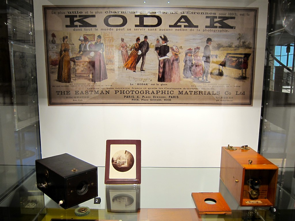 vintage KODAK poster | at the Photography museum in Vevey, S
