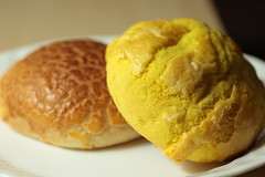 breakfast, cheese bun, baked goods, profiterole, food, dish, cuisine,