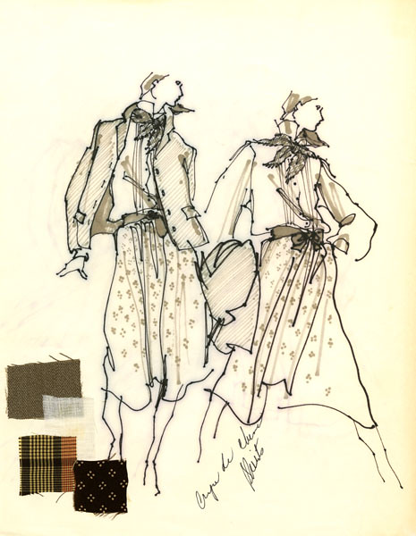 Zack Carr Sketch of Calvin Klein designs