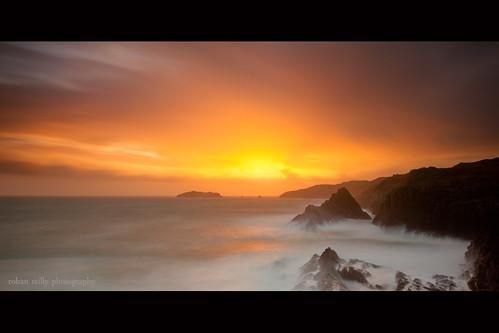ireland sunset rocks long exposure cork baltimore atlantic kedges