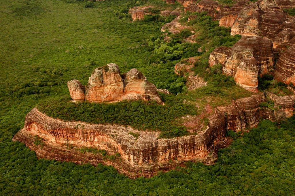 Parque Nacional Serra das Confusões - vista aérea da maior reserva de caatinga do planeta