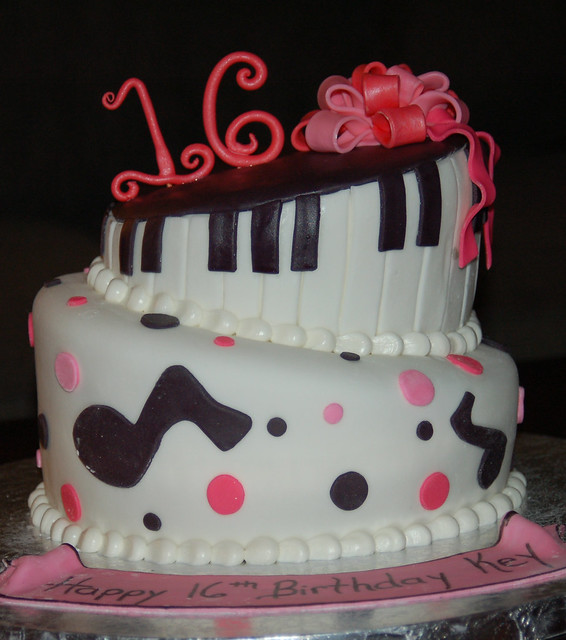 Music Lover s 16th birthday cake Flickr - Photo Sharing!
