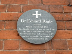 Photo of Edward Rigby green plaque