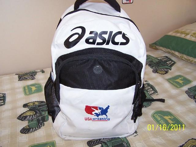 asics usa wrestling backpack