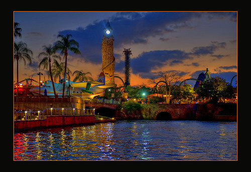 park light sunset water orlando nikon florida low theme universal nikkor studios hdr 2470mmf28 d700