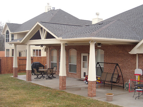 how to build a gable patio cover