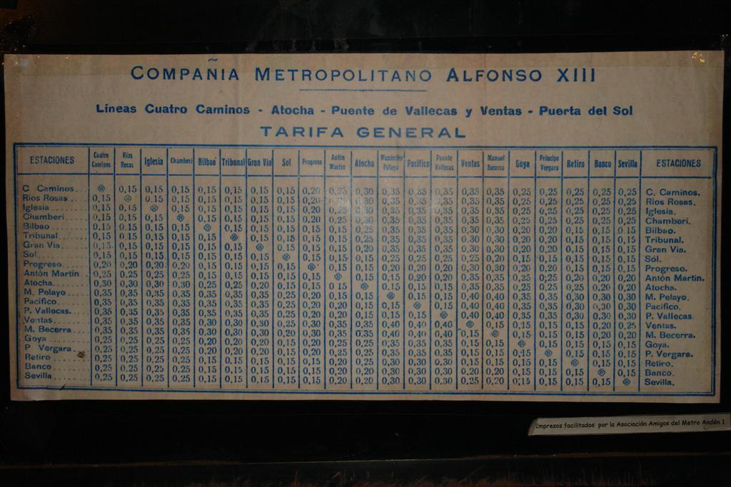 Tarifas del metro en 1966 (clic para ampliar) Fantasmas bajo la ciudad de Madrid - 5380435554 ba1a3b13c5 o - Fantasmas bajo la ciudad de Madrid